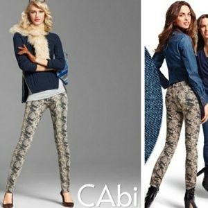 CAbi Style 958 Animal Print Pants Sz 10